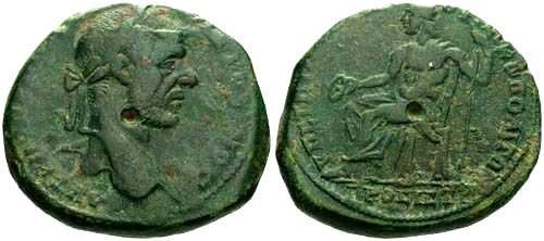 Ancient Coins - aVF/aVF Macrinus Ae27 Marcianopolis Moesia Inferior