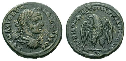 Ancient Coins - aVF/VF Caracalla Marcianopolis AE 26 / Eagle