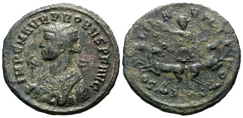 Ancient Coins - VF/VF Probus Antoninianus / Sol in Spread Quadriga