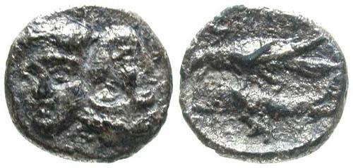Ancient Coins - F/VG Rare Denomination Istros AR 3/4 obol
