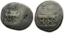54 BC - Roman Republic, AR Denarius of Q. Pompeius Rufus / Curule Chair