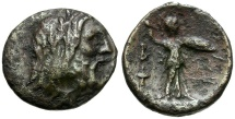 Ancient Coins - Kings of Macedon.  Philip V Æ19 / Zeus and Athena