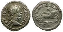 Septimius Severus AR Denarius / Dea Caelestis Riding Lion