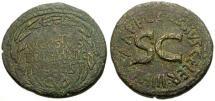 Ancient Coins - gF+/gF+ Augustus Æ Dupondius / C. Cassius Celer Moneyer