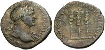 Ancient Coins - Trajan AR Denarius / Standards