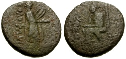 Ancient Coins - Ionia. Kolophon Æ20 / Homer