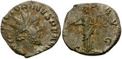 Ancient Coins - Victorinus Æ silvered Antoninianus / Salus