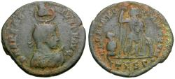 Ancient Coins - Arcadius (AD 383-408) Ӕ24 / Hand of God