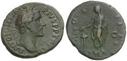 Ancient Coins - Antoninus Pius (AD 138-161) Æ AS / Emperor Sacrificing