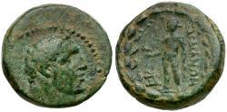 Ancient Coins - Lydia. Sardes Æ17 / Herakles