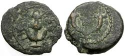 Ancient Coins - Judaea. Herodians. Herod I the Great (40-4 BC) Æ Prutah / Anchor