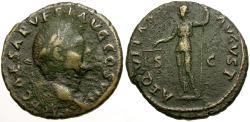 Ancient Coins - Vespasian Æ AS / Aequitas