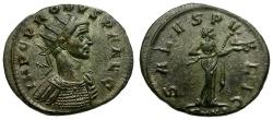 Ancient Coins - Probus Silvered Antoninianus / Salus