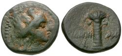 Ancient Coins - Phoenicia. Tyre Æ12 / Palm Tree