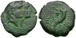 Ancient Coins - Phoenicia. Akko-Ptolemais Æ17 / Dioscuri