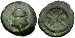 Ancient Coins - Thrace. Mesembria Æ18 / Helmet