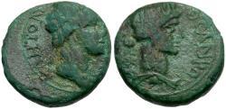 Ancient Coins - Mysia. Pergamon. Pseudo Autonomous Æ15 / Roma / Senate