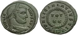 Ancient Coins - Licinius I (AD 308-324) Æ3 / Wreath
