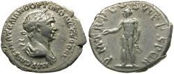 Ancient Coins - Trajan (AD 98-117) AR Denarius / Genius