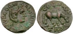 Ancient Coins - Salonina (AD 254-268). Alexandria. Troas Æ19 / Horse