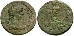 Ancient Coins - Pisidia. Termessos Major. Pseudo-Autonomous Issue Æ26 / Hermes and Athena
