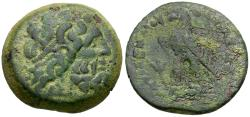 Ancient Coins - Ptolemaic Kings of Egypt. Ptolemy VI Philometor, first reign (180-164 BC) Æ21  / Lotus