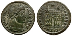Ancient Coins - Constantine I the Great Æ Follis / Camp gate