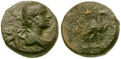 Ancient Coins - Lycia. Termessos Minor Æ10 / Hermes & Bee