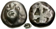 Ancient Coins - aVF/aVF Islands off Attica Aegina AR Stater / Turtle