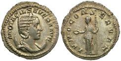 Ancient Coins - Otacilia Severa (AD 244-249) AR Antoninianus / Juno