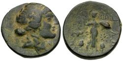 Ancient Coins - Thessaly. Thessalian League Æ20 / Athena