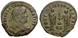Ancient Coins - Diocletian as Senior Augustus. Post-Abdication Æ Follis / Providentia and Quies