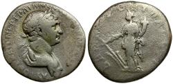Ancient Coins - Trajan. Cappadocia. Caesarea AR Didrachm / Tyche