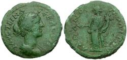 Ancient Coins - Faustina II. Thrace. Hadrianopolis Æ21 / Homonoia