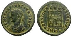 Ancient Coins - Constantine II as Caesar Æ3 / Campgate