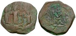 Ancient Coins - *Sear 834* Byzantine Empire. Heraclius. Heraclius Constantine and Martina Æ Follis