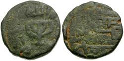 World Coins - Islamic. Umayyad Caliphate Æ Fals / Candelabra