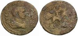 Ancient Coins - Volusian. Cilicia. Tarsos Æ30 / Emperor on Horseback