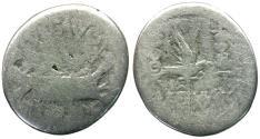 Ancient Coins - Imperatorial. Marc Antony (43-30 BC) Legionary AR Denarius / Legion XXII