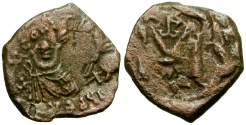 Ancient Coins - Byzantine Empire. Constans II Æ Follis