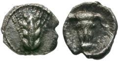 Ancient Coins - Lucania. Metapomtum AR Hemiobol