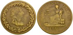 World Coins - Canada. Lower Canada. Tiffin Brass Halfpenny Token