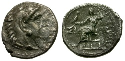 Ancient Coins - Kings of Macedon. Alexander III the Great AR Obol / Zeus Enthroned