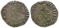 World Coins - Great Britain. Stuart. Charles I (1625-1649) type 3a AR Halfgroat