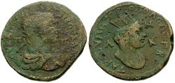 Ancient Coins - Trebonianus Gallus, Cilicia Tarsos Æ32 / Bust of Tyche