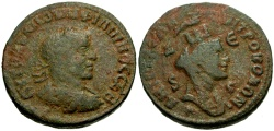 Ancient Coins - Philip I, Syria, Seleucia and Pieria, Antioch Æ29 / Bust of Tyche