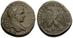 Ancient Coins - VF/VF Elagabalus, Syria, Seleucis and Piera, Antioch Æ Tetradrachm / Emesa Mint