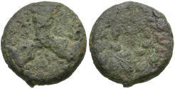 Ancient Coins - Phokis. Federal Coinage. Phokaian League Æ21 / Three Bulls' Heads