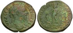 Ancient Coins - Septimius Severus (AD 193-211) Moesia Inferior. Nicopolis ad Istrum. Aurelius Gallus, legatus consularis Æ27 / Dionysos