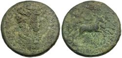 Ancient Coins - Commodus (AD 177-192). Phrygia. Colossae Æ35 / Artemis in Biga of Stags
